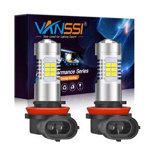 Image 1 - VANSSI 2 Chiếc H8 H11 Đèn LED Sương Mù Bóng Đèn 6000K Trắng HB4 9006 H10 9145 H16 Bóng Đèn LED Ô Tô đèn Bảo Hành 1 Năm