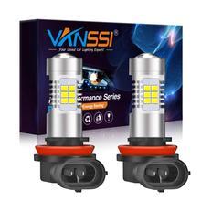 VANSSI 2pcs H8 H11 LED 안개 전구 6000k 화이트 HB4 9006 H10 9145 H16 LED 전구 자동차 램프 1 년 보증