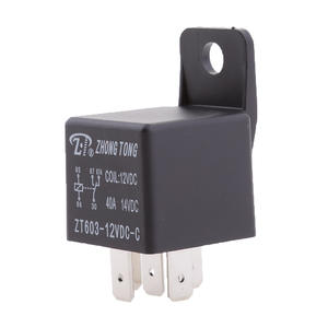 12V 40A 5-Pin SPDT Contacts Automotive Changeover Relay With Bracket