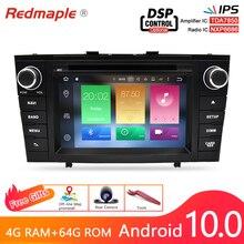 אוקטה Core Android10.0 רכב רדיו ניווט GPS מולטימדיה נגן DVD עבור טויוטה Avensis T27 2009 2015 WIFI סטריאו 4G RAM 64G ROM