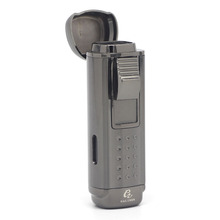 COHIBA 4 Torch Cigar Lighter Gas Cigarette Windproof Accessories with Built-in Punch