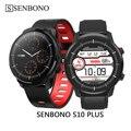 Умные часы SENBONO S10 plus  мужские и женские водонепроницаемые спортивные Смарт-часы с монитором сердечного ритма  Смарт-часы для телефонов IOS  ...