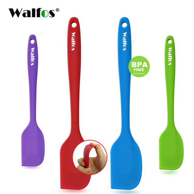 WALFOS  food grade Non Stick butter cooking silicone spatula set cookie pastry scraper cake baking spatula silicone spatula