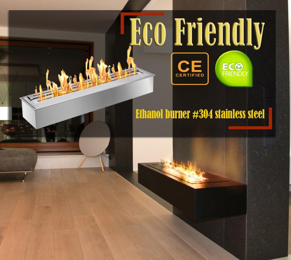 Inno Living Fire  48 Inch Ethanol Fire Burner Eco Fireplace Insert