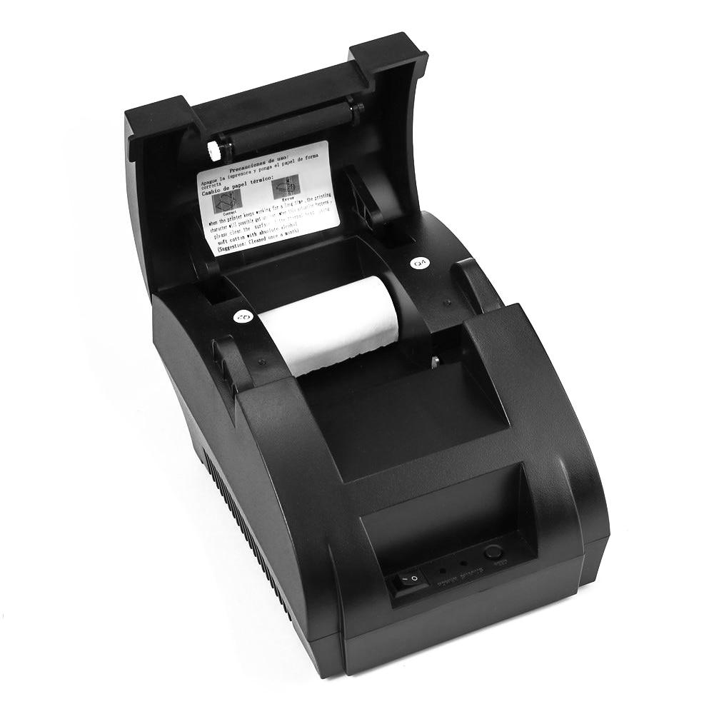 Original ZJ 5890K 58mm POS Thermal Receipt Bill Printer Universal Ticket Printer Support cash drawer driver Dot matrix|Printers| |  - title=