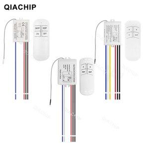 Image 1 - QIACHIP 무선 원격 제어 라이트 스위치 220V 수신기 송신기 ON/OFF 디지털 1/2/3 웨이 벽 원격 제어 스위치 램프