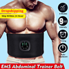 EMS Fitness Trainer Belt Waist Support Abdominal Muscle Stimulator Slimming Belt Unisex USB Recharge Home Muscle Training Device