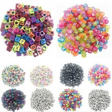 100 Pcs/Set Learning Toy Spacer Acrylic Beads Cube Alphabet Letter Bracelet For Bracelet Necklace Jewelry Making DIY