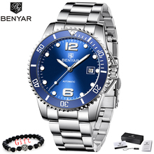 BENYAR Mechanical Watch Men Automatic Casual Business Stainless Steel