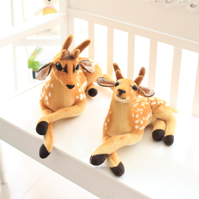 Elk Plush Reindeer  Decoration Simulation  Deer Garden pendulum stuffed toys For Boy Girl