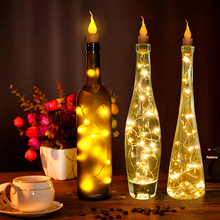 Candle Shaped Copper Wire With Plastic Bottle Light  String Lights For DIY Christmas Wedding Party Indoor Outdoor Decoration