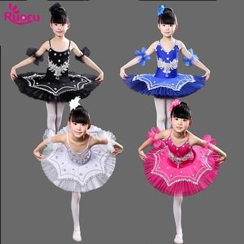 Ruoru Ballerina Ballet Tutu Kids Girls Dress Skirt Professional Pancake Dancewear Costume Party Baby Girl