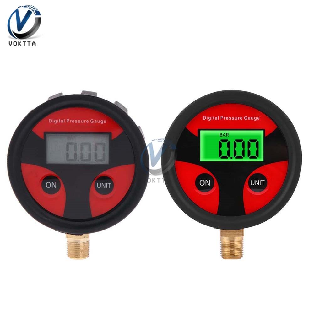 0-200PSI Digital Tyre Tire Air Pressure Gauge LCD Backlight Digital Display For Car Truck Bike Auto Pressure Tester Tool