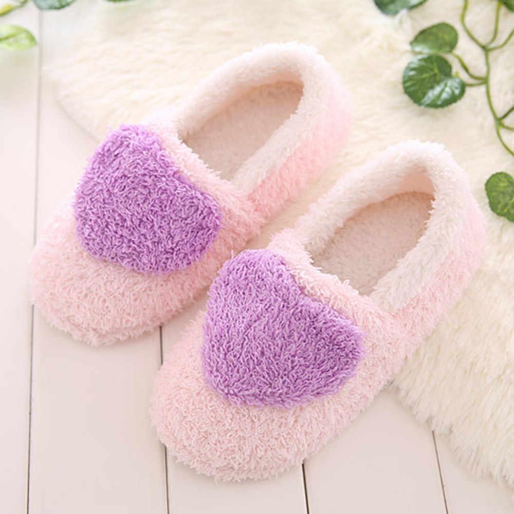Pantoufles mode dames intérieur résidence mignon pantoufles en peluche doux mignon coton chaussures anti-dérapant plancher maison pantoufles pantoufles #10