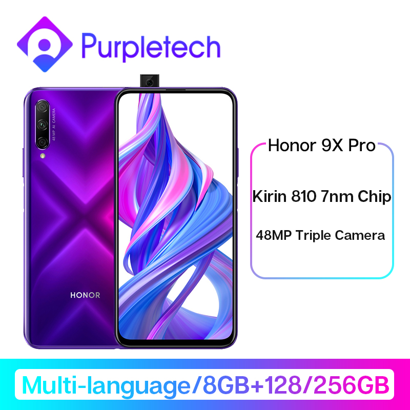 Honor 9X Pro 8GB 256GB 128GB Kirin 810 Liquid Cool Smartphone 48MP Triple Camera 6.59