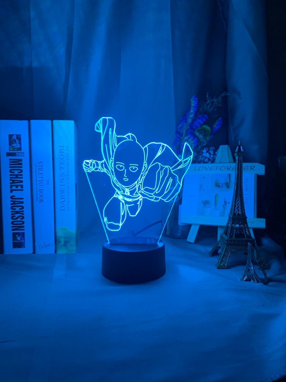 Hd2364384fd274f6689f4d0de3f3262adq Luminária One Punch Man saitama figura led night light lâmpada para decoração de casa nightlight fresco mangá loja decoração idéias mesa luz 3d