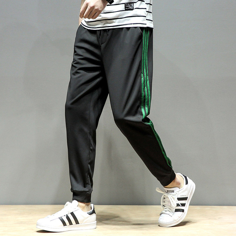 Spring New Style Korean-style Men's Fashion Stripes Casual Three Bars Athletic Pants Men Casual Trousers Skinny Pants Fashion