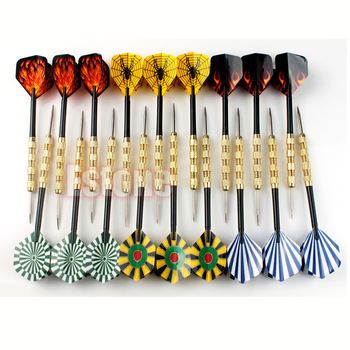 18 Pcs (6 Sets) Professional Steel Tip Darts Flight Steel Tip Dart Darts With Nice Flights