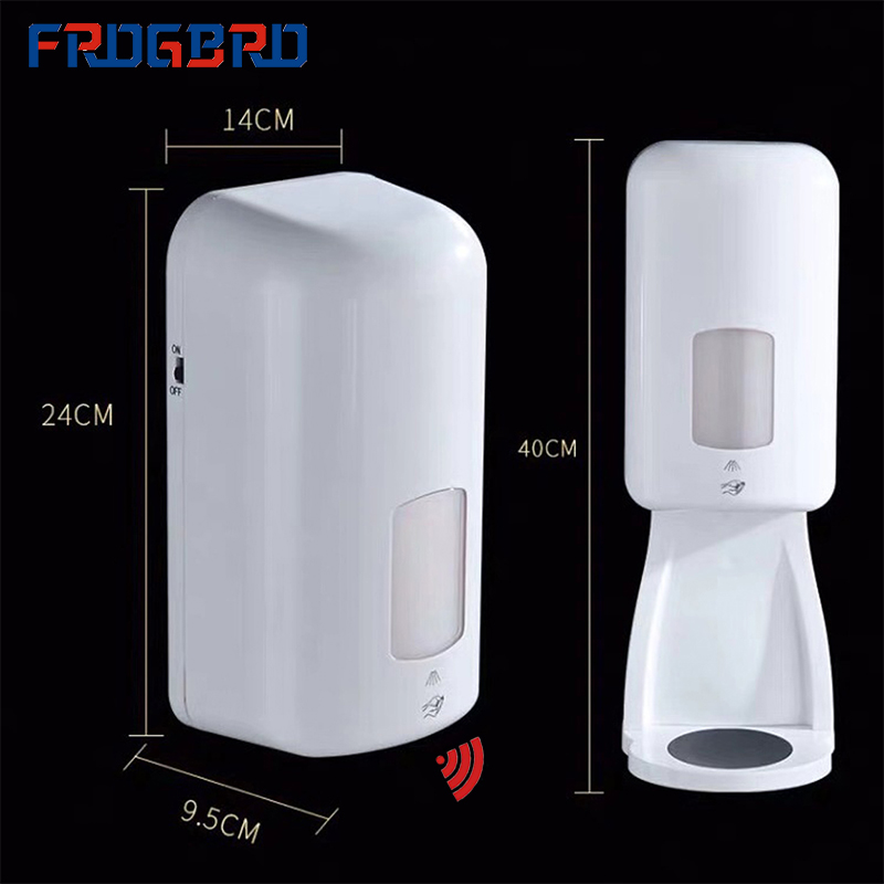 FROGBRO 1000ml Touchless Bathroom Dispenser Smart Automatic Hand Sanitizer Infrared Motion Sensor Soap Dispenser for Kitchen