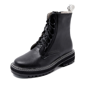 Image 5 - AIYUQI Boots Female 2020 Genuine Leather Women Booties Lace Up White winter women shoes Non slip girl Martin boots