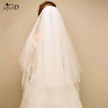 Простая двухслойная короткая свадебная фата свадебная вуаль для невесты Свадебные аксессуары Velos de Noiva A30