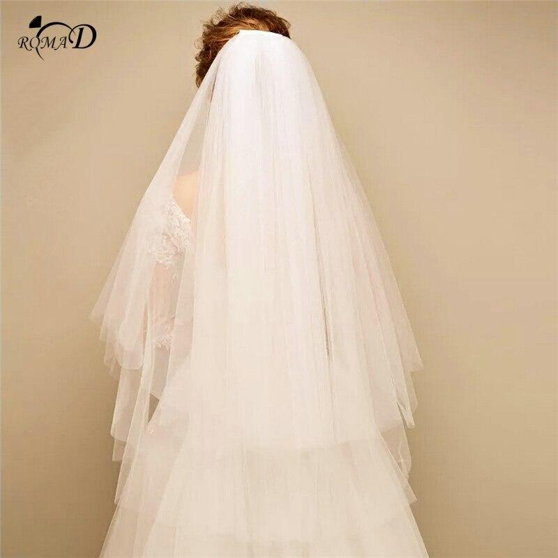 Simple Two Layers Short Bridal Veil Wedding Veils 2019 Bridal Veil For Bride For Mariage Wedding Accessories Velos De Noiva A30