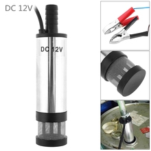 12V DC 38MM Car Electric Submersible Pump Aluminum Alloy Water Pump Fuel Transfer Pump for Pumping Diesel Oil dc 12v 30l min aluminum alloy submersible electric bilge pump for diesel oil water fuel transfer with switch 12 v volt 12volt
