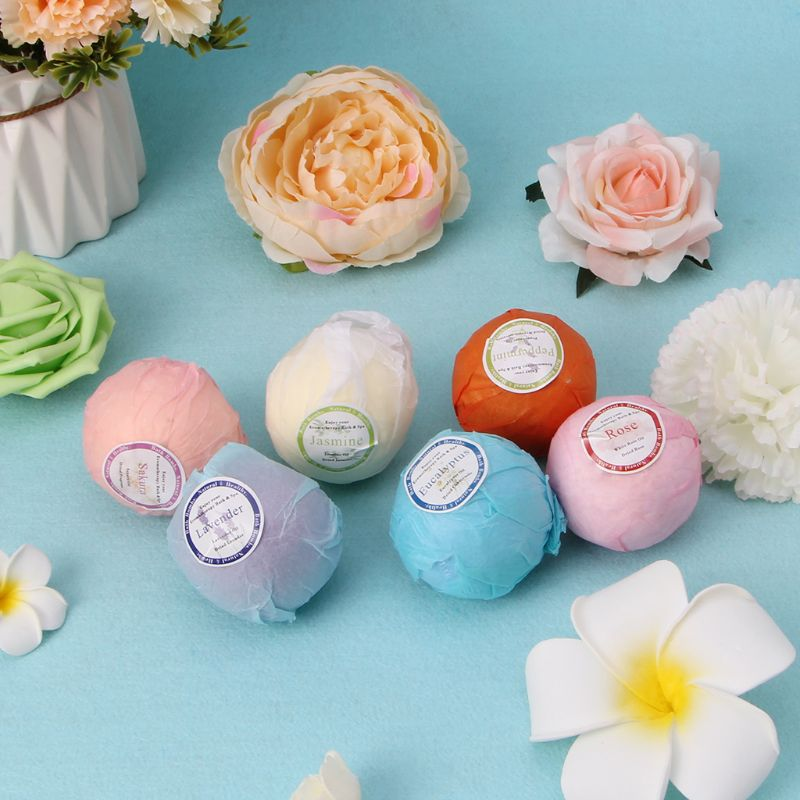 Organic Bath Bombs Bubble Bath Salts Essential Oil Handmade SPA Stress Relief  Q0KD