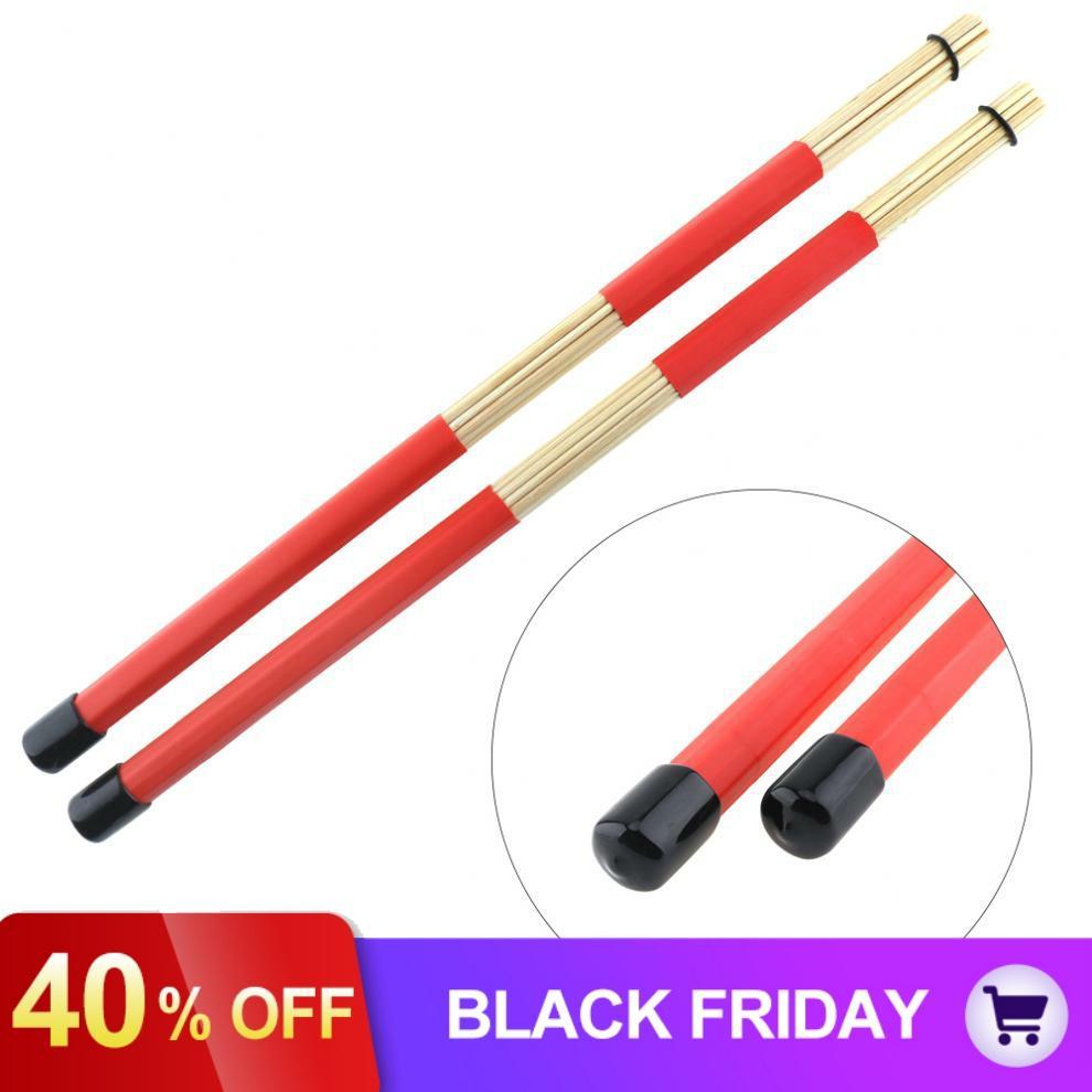 2pcs 40cm Drum Set Wooden Rods Rute Jazz Drum Sticks Drumsticks  Percussion Instruments Accessories