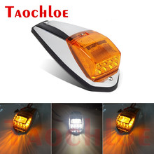 1Pc 17 LED Amber White Cab Roof Marker Lights Top Fog Lamp Running Light For Heavy Trucks Trailer Lorry Car Clearance Lamps