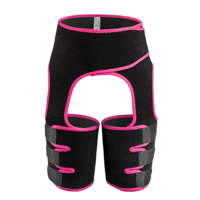 Plus Size Adjustable Women Leg And Waist Belt Trimmer Neoprene Buttocks Body Shaper High Waist Abdominal Belt Sweat Girdle 4