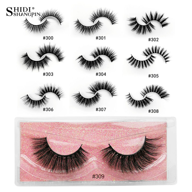 SHIDISHANGPIN Wholesale Eyelashes 3d Mink Lashes Natural Mink Eyelashes Wholesale False Eyelashes Makeup False Lashes In Bulk 5