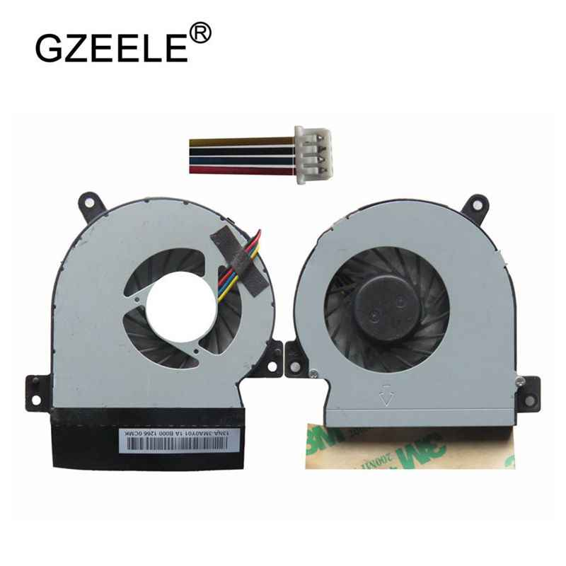 GZEELE baru Laptop cpu cooling fan untuk ASUS Eee PC 1215 1215N VX6 1215CT 1215B 1215 T Prosesor Komputer Notebook Cooler 4 pin
