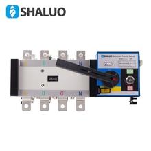 4P 250A 400 в двойной переключатель передачи мощности универсальный переключатель ATS 220 В ac дизель-генератор Комплект часть Электрический выключатель