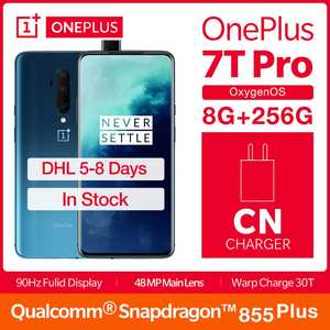 "2019 Global ROM OnePlus 7T Pro 8GB 256GB Smartphone Snapdragon 855 Plus Octa Core 6.67"" Fulid 90Hz Display NFC UFS 3.0 4085mAh"