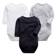 High quality Solid color Newborn Baby Jumpsuit Romper Black