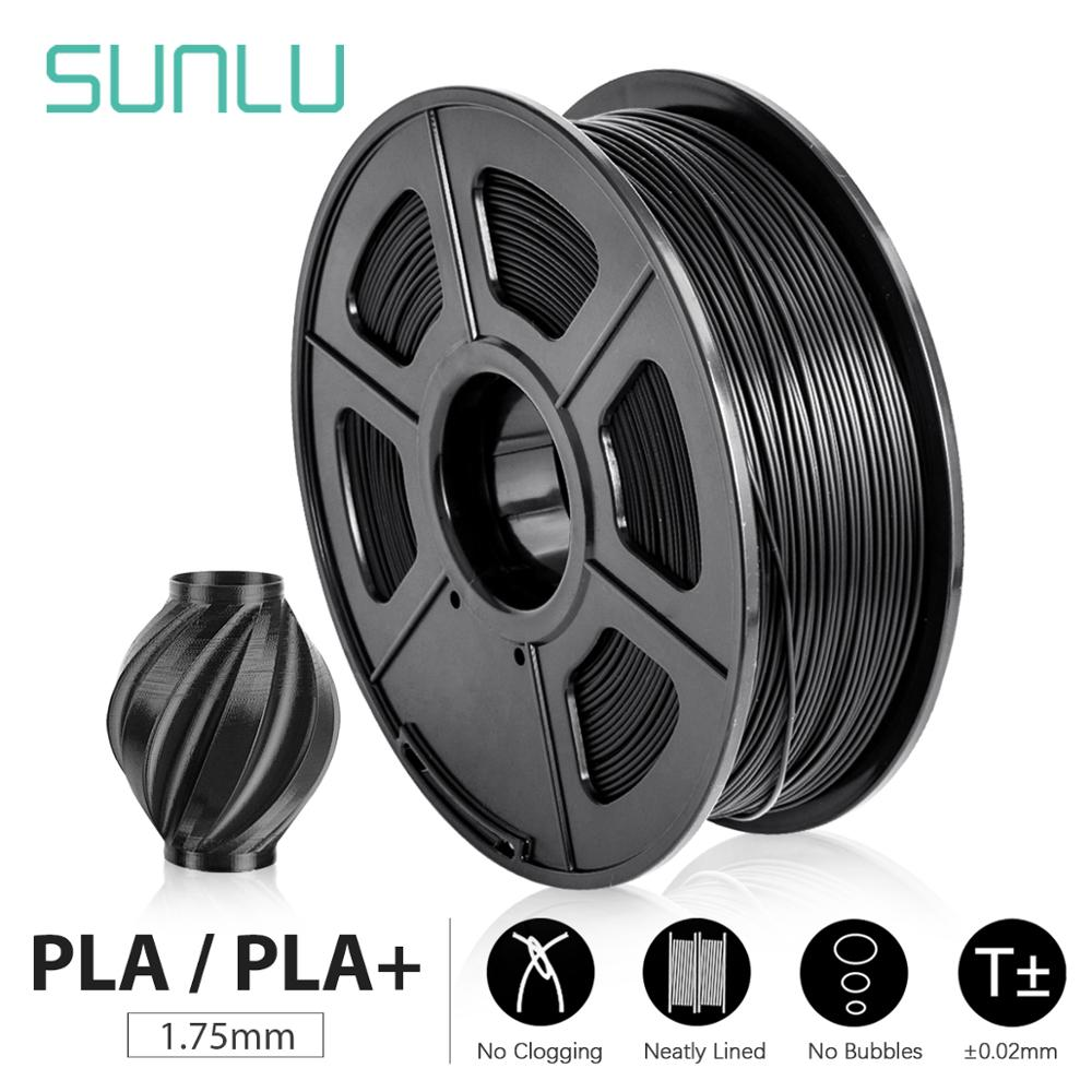 Filament d'imprimante 3D SUNLU PLA +/PLA 1.75mm 2.2 lb 1KG bobine nouveau matériel d'impression 3D rapide pour imprimantes 3D et stylos 3D