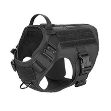 Tactical Dog Harness with 2X Metal Buckle Working Dog MOLLE Vest with Handle Front Clip Dogs Military Adjustable Coats Jackets