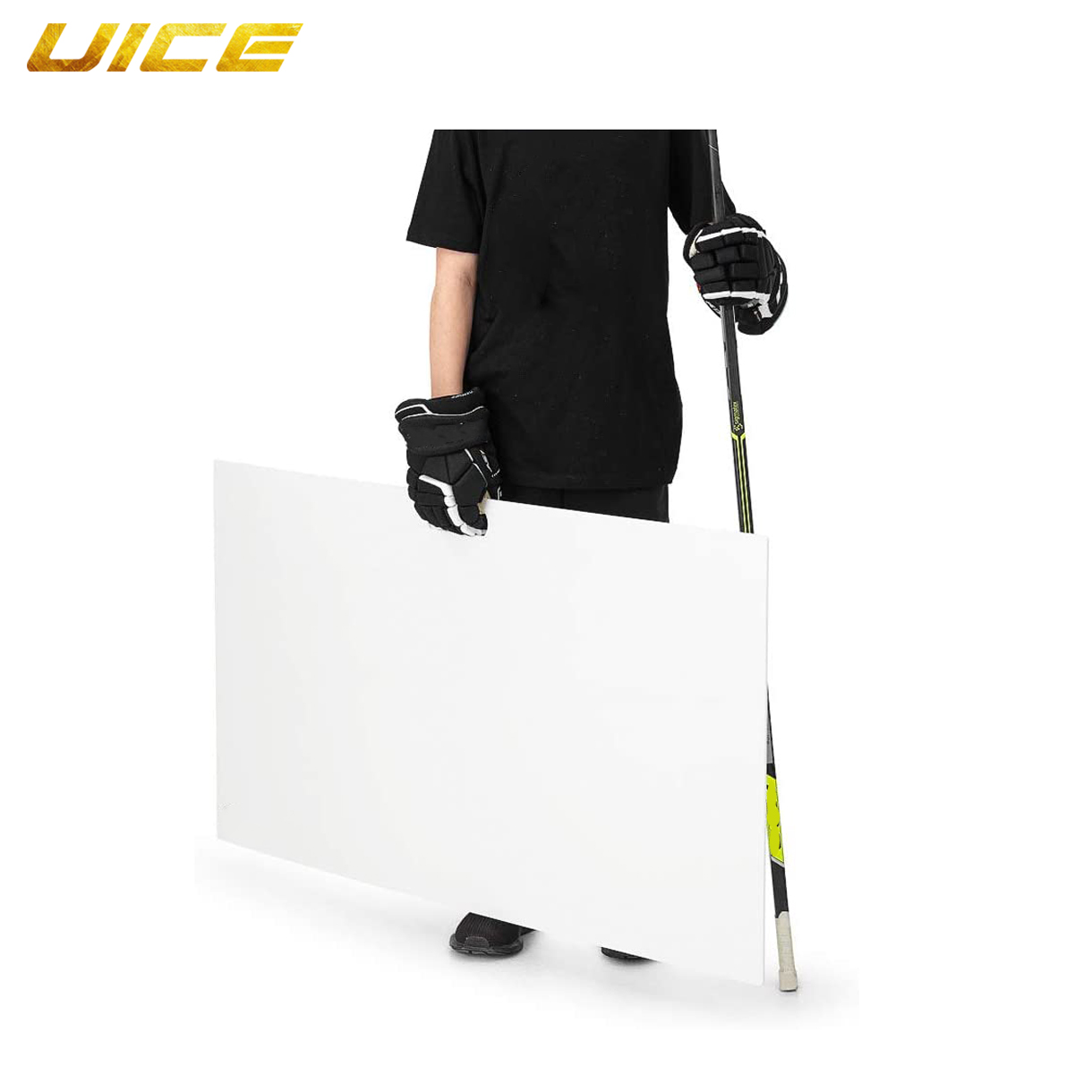 Ice Hockey Shooting Pad Simulates The Feel of Real Ice Professional-Grade Practice Surface for Shooting Passing Stickhandling