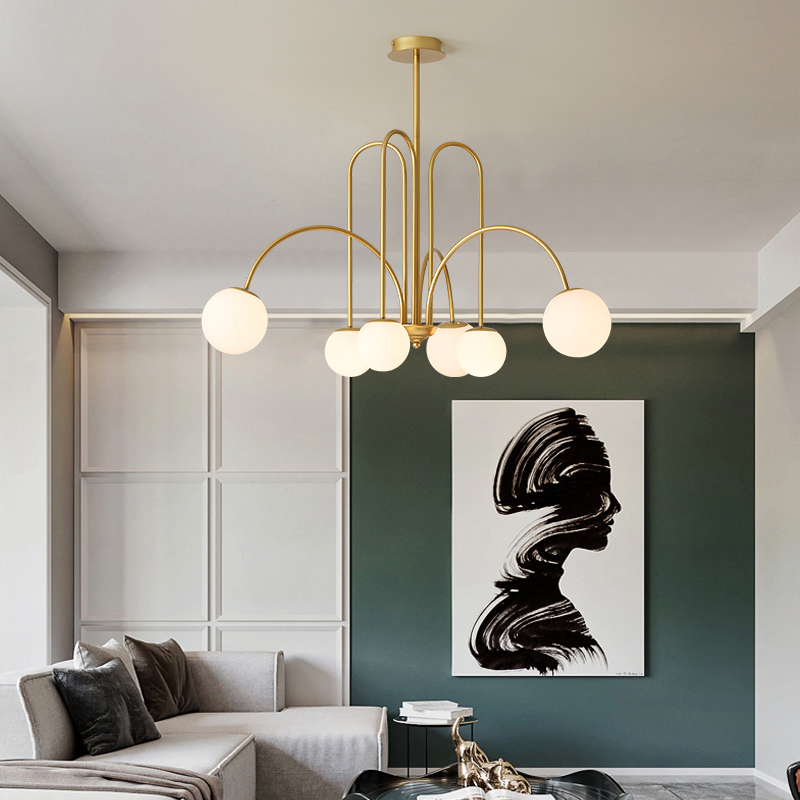 Nordic led lustre na sala de estar cozinha quarto loft ouro preto feijão mágico pendurado lâmpada iluminação moderna para casa