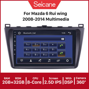 Seicane 9 2Din Android 9.1 GPS Car Radio CAR Multimedia Player For 2008 2009 2010-2015 Mazda 6 Rui wing 1+16G Wifi Bluetooth image