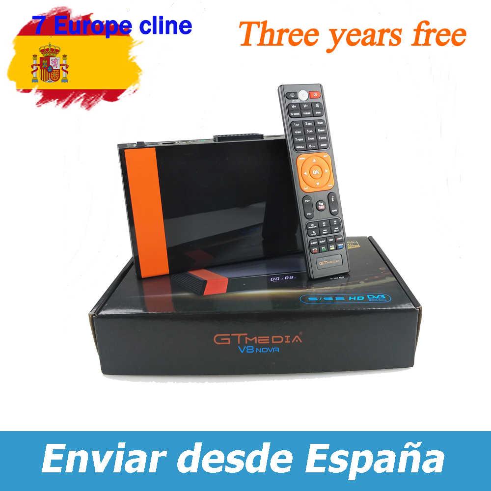 Thụ Thể Gtmedia V8 Nova Tích Wifi Công Suất Bởi FREESAT V8 Siêu DVB-S2 Châu Âu Cline 3 Năm Dịch Vụ giống Như V9 Siêu