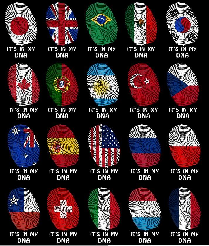 Es mi bandera de DNA para hombre Camisetas Personalizadas tu país EE. UU. Francia España Países Bajos Canadá Argentina banderas divertida camiseta negra camisas