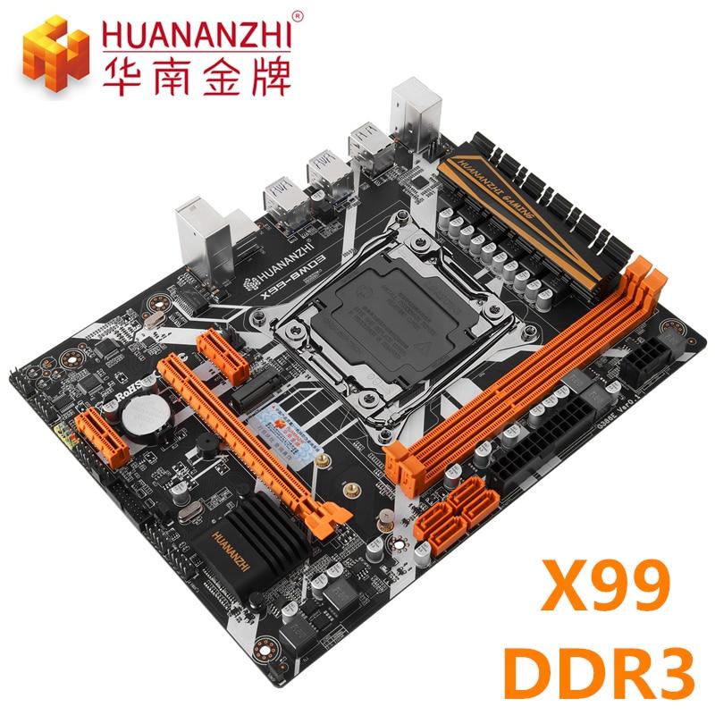 Huananzhi x99 placa-mãe LGA2011-3 x 99 mainboard nvme m.2 ddr3 ram reg memória ecc intel xeon e5 jogo de computador placa de trabalho pc