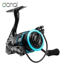 DONQL Water Resistance Spinning Reel 15kg Max Drag Powerful Fishing Reel Carbon Fiber Body Saltwater Fishing Coil Wheel Tackle