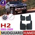 Para Hummer H2 2003 ~ 2009 delantero trasero coche Mudflap guardabarros guardia Splash solapa guardabarros 2004 accesorios 2005 2006, 2007, 2008,