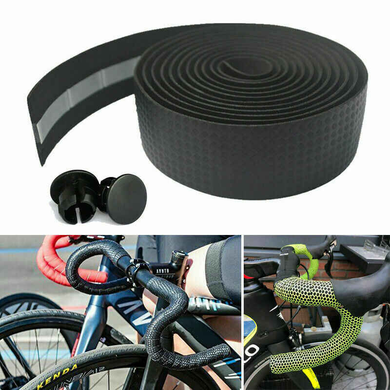 2x Non-slip Tape Road Bike Handlebar Tape Bicycle Drop Bar Wrap Outdoor Sports
