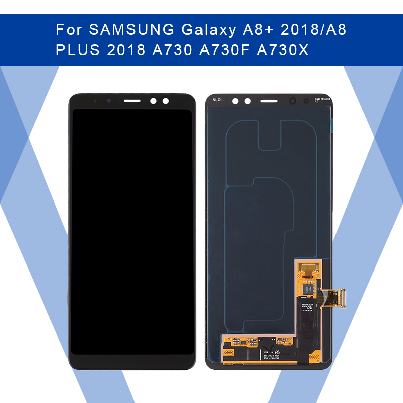 For SAMSUNG Galaxy A8+ 2018/A8 PLUS A730 LCD AMOLED Display Screen+Touch Panel Digitizer Assembly For SAMSUNG Display Original