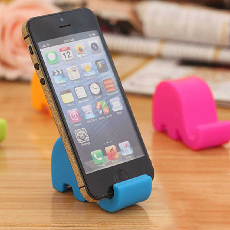 Support de téléphone portable universel Smartphone support d'éléphant Stable en plastique écologique pour baguettes cuillère stylo carte pour stylo