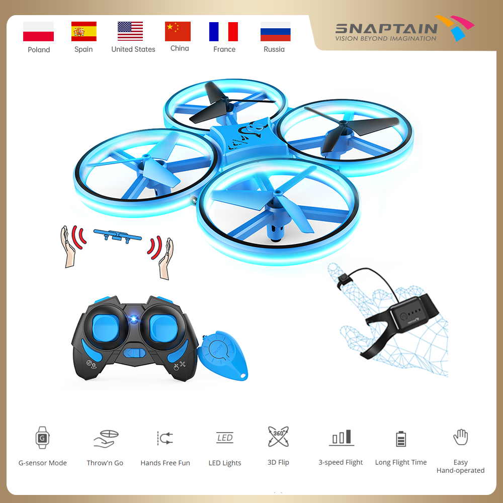 Mini Drone SNAPTAIN SP300 Hand Operated RC Quadcopter Long Flight Time Dron Easy Hand operated Drones Toy For KidsChristmas gift|Camera Drones| - AliExpress